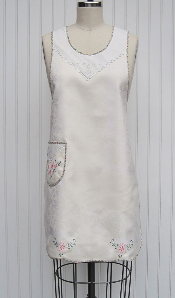 1920s-Damask-Embroidered-Apron-front