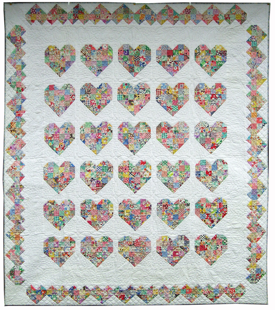 Quilt Patterns Heart Free : Q is for Quilter Blog Archive Emily s Heart Quilt