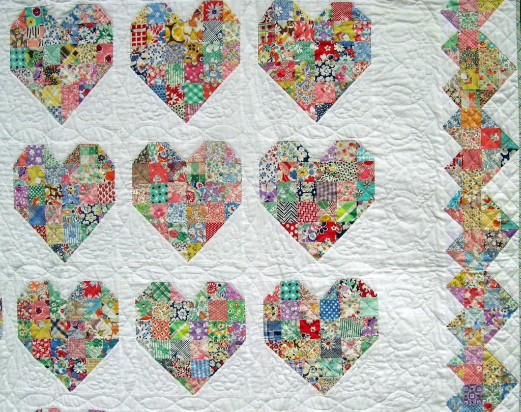 Hand Quilting Heart Patterns : Blogger s Quilt Festival Emily s Bride Quilt Q is for Quilter