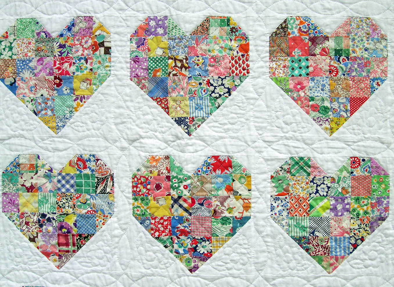 Hand Quilting Heart Patterns : heart quilt pattern quilts Pinterest