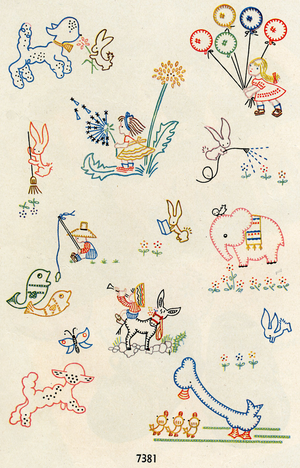 Embroidery Patterns Baby Quilts Simplicity 7381