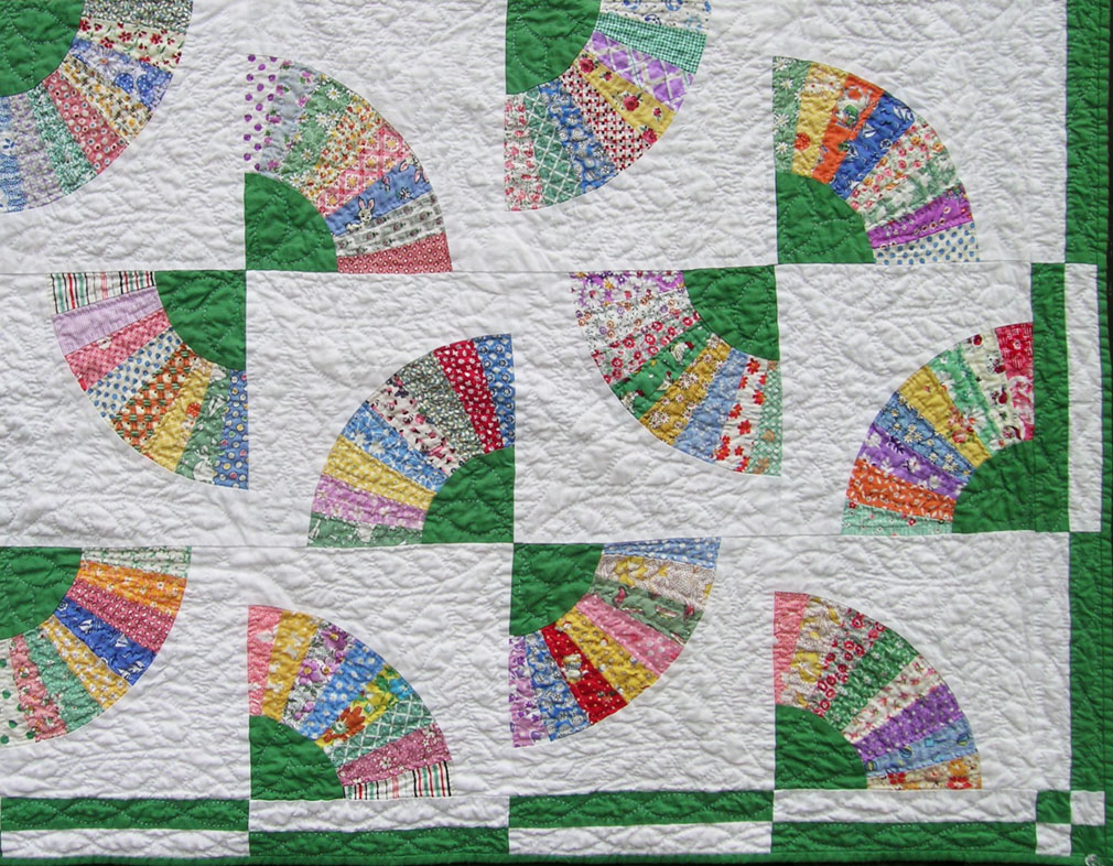 Green Fan Quilt Q Is For Quilter