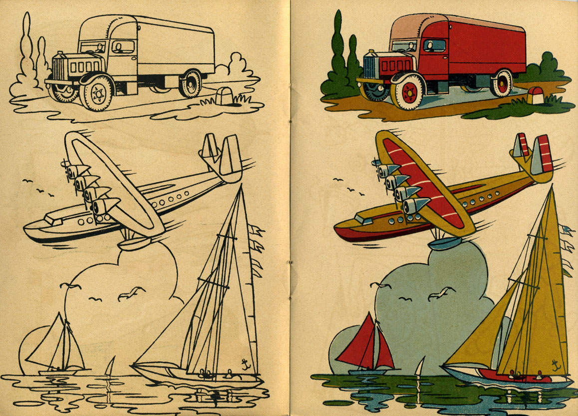1945 French Coloring Book – Q is for Quilter
