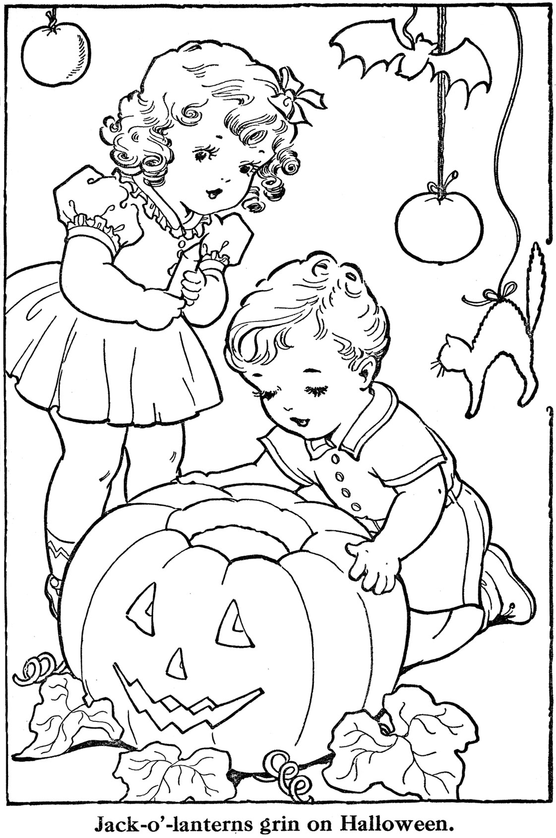 October 2009 q is for quilter for Happy halloween coloring pages printable