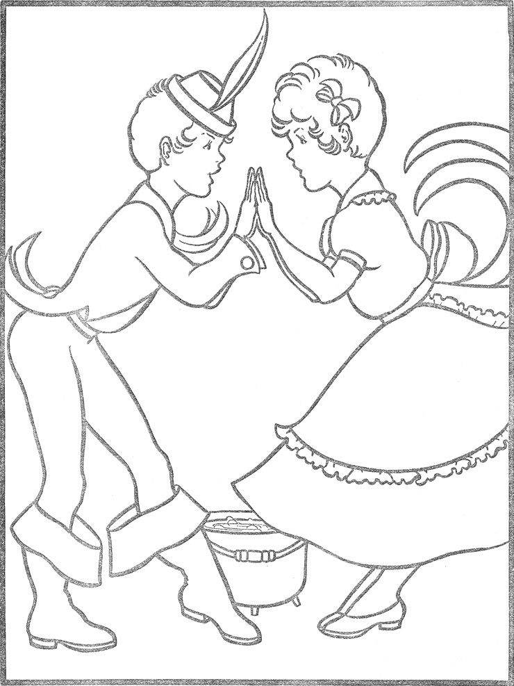 pease porridge hot coloring pages - photo#17