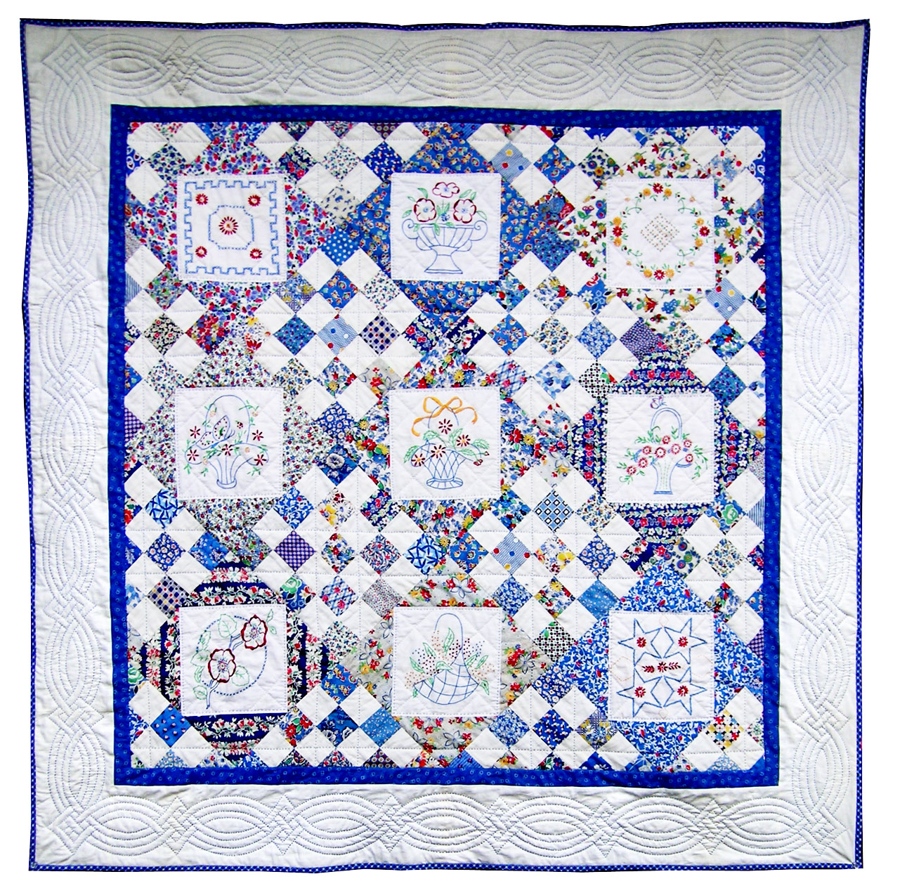 Embroidered Crib Quilts from Elegant Linens