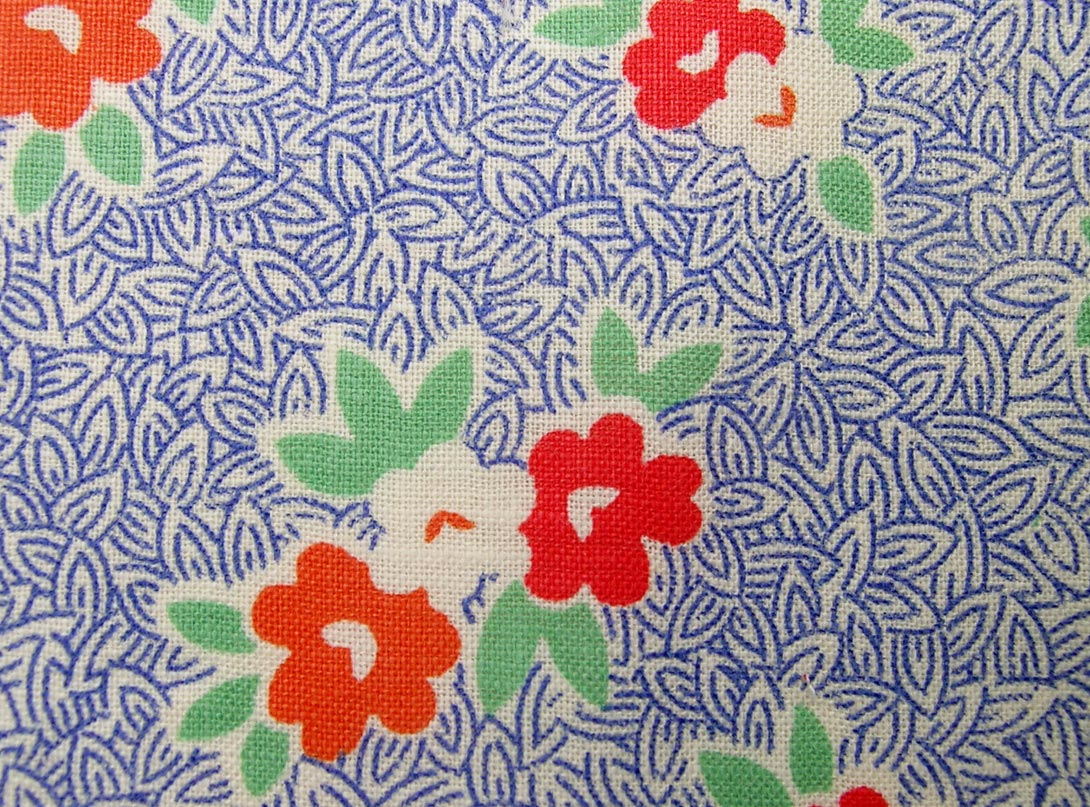 Vintage fabric gallery 1930s blues q is for quilter for Retro fabric
