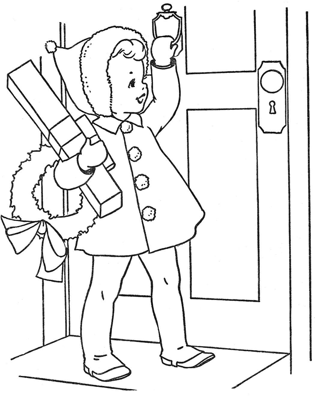 vintage christmas coloring pages - redwork on pinterest embroidery patterns vintage
