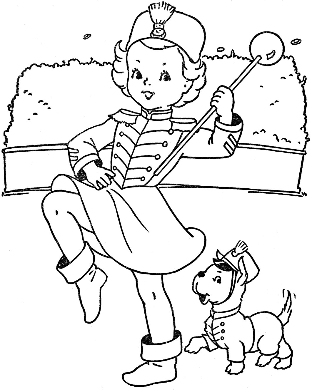 baton coloring pages - photo#4
