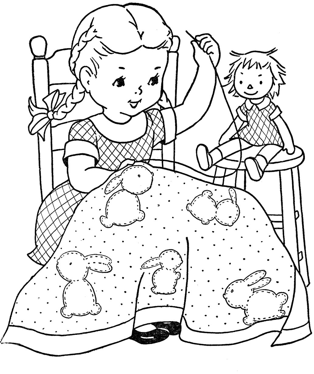 Favorite Paint Book Little Girls Q Is For Quilter