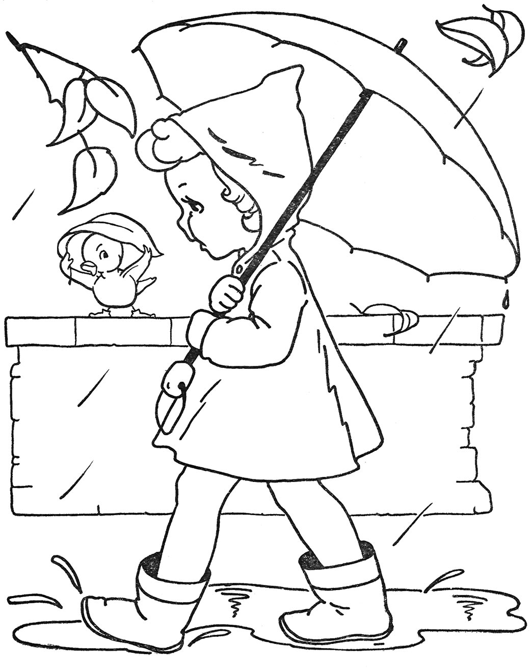 vintage coloring pages of children - photo#44