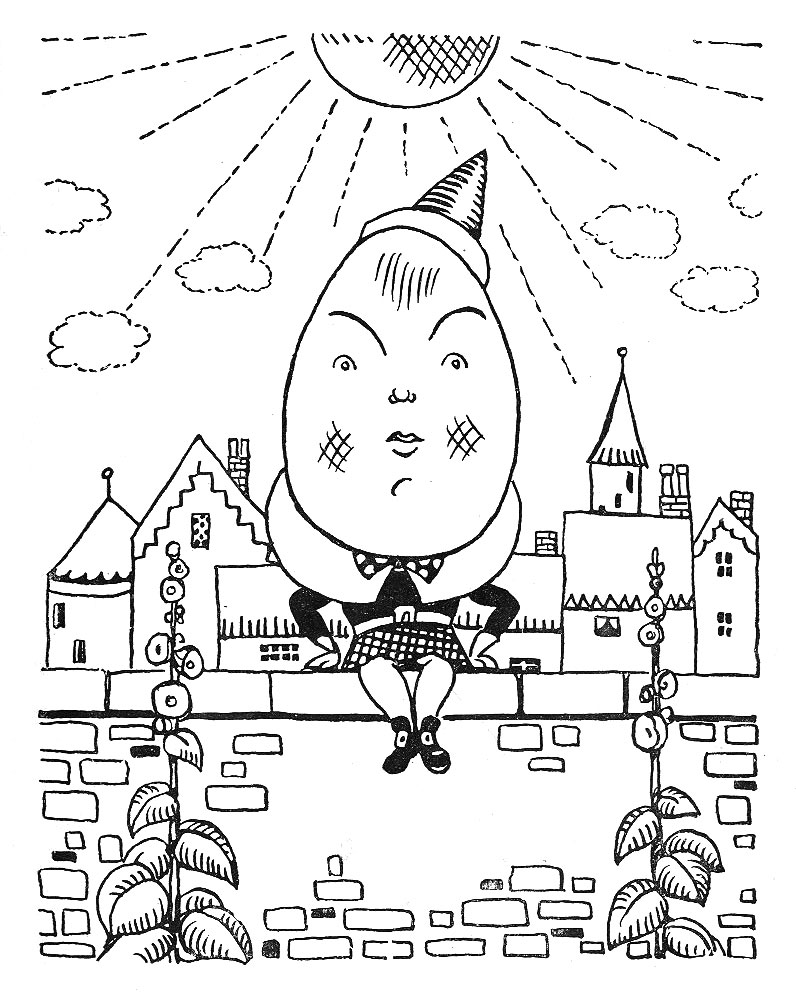 humpty dumpty coloring pages - humpty dumpty