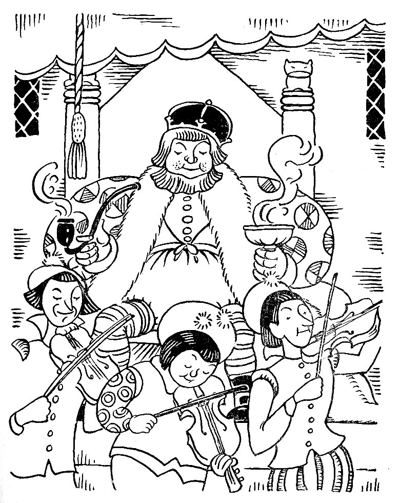 Q is for quilter blog archive old king cole for Old king cole coloring page