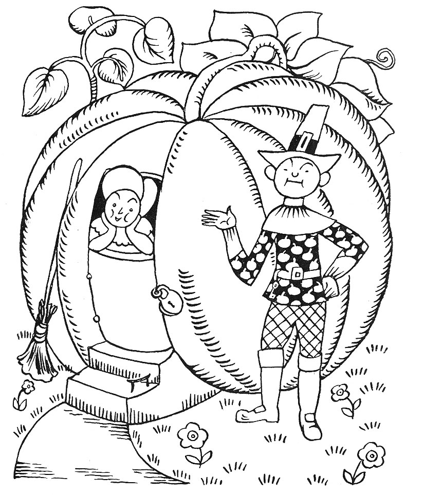 Free Coloring Pages Of Peter Peter Pumpkin Eater Pumpkin Eater Coloring Page