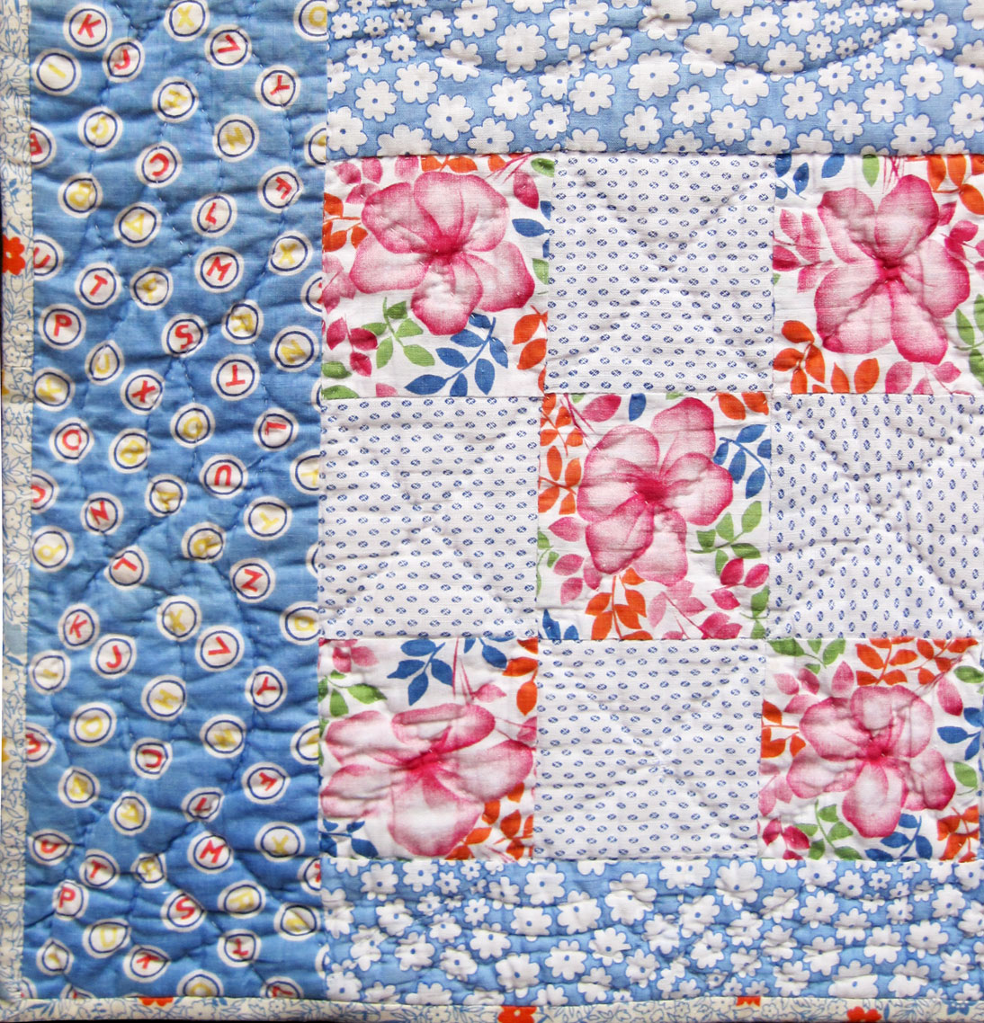 Vintage 9-Patch Crib Quilt – 1930s – Q is for Quilter : 1930s quilt patterns - Adamdwight.com