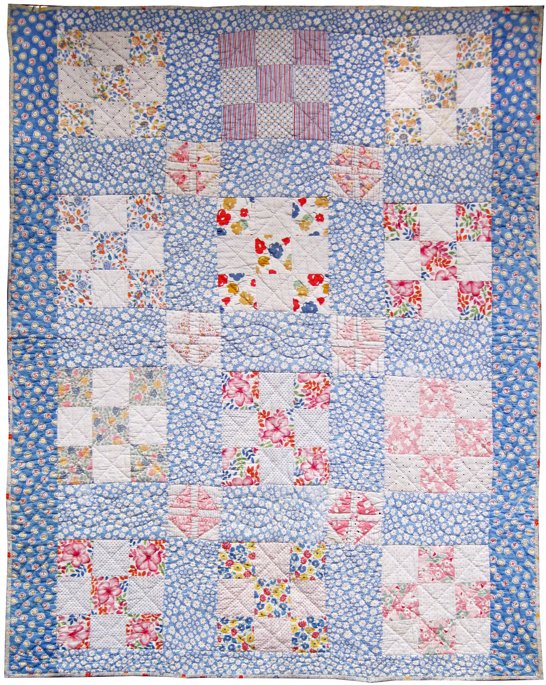Vintage 9 Patch Crib Quilt 1930s Q Is For Quilter