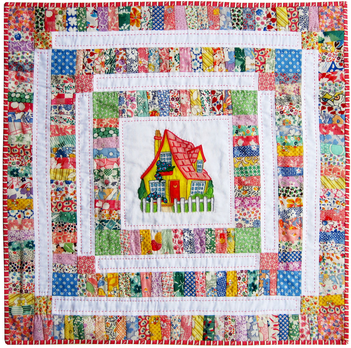 Cottage Doll Quilt — Finished – Q is for Quilter : reading quilt - Adamdwight.com