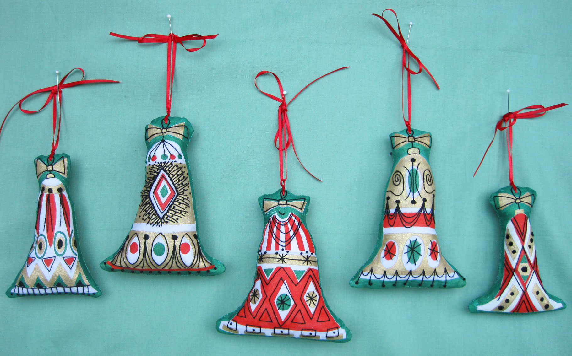 these - Embroidered Christmas Ornaments