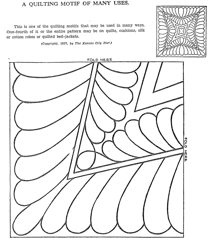 Vintage Hand Quilting Patterns – Q is for Quilter : patterns for hand quilting - Adamdwight.com