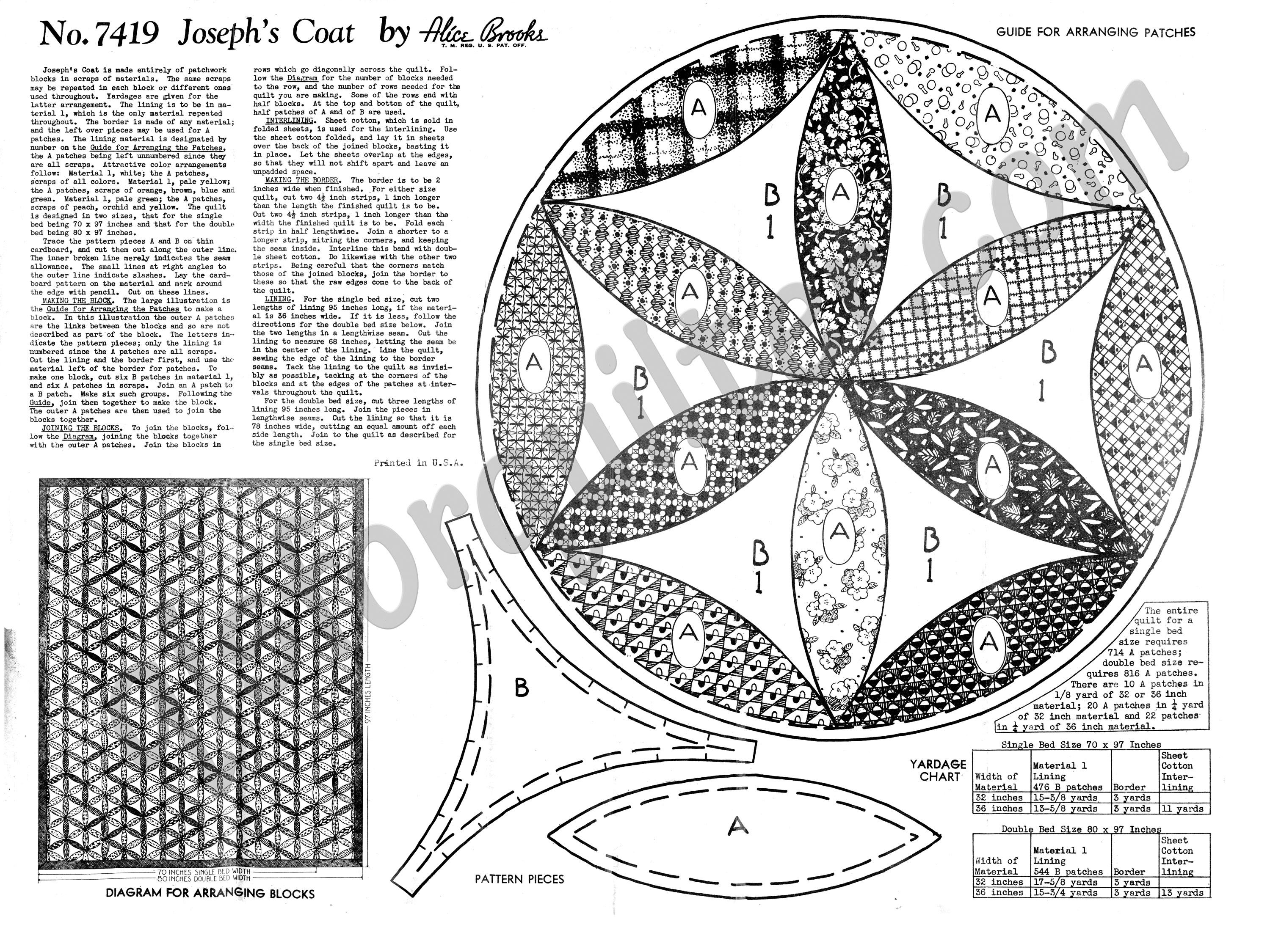 Alice Brooks Quilt Pattern – Joseph\'s Coat – Q is for Quilter