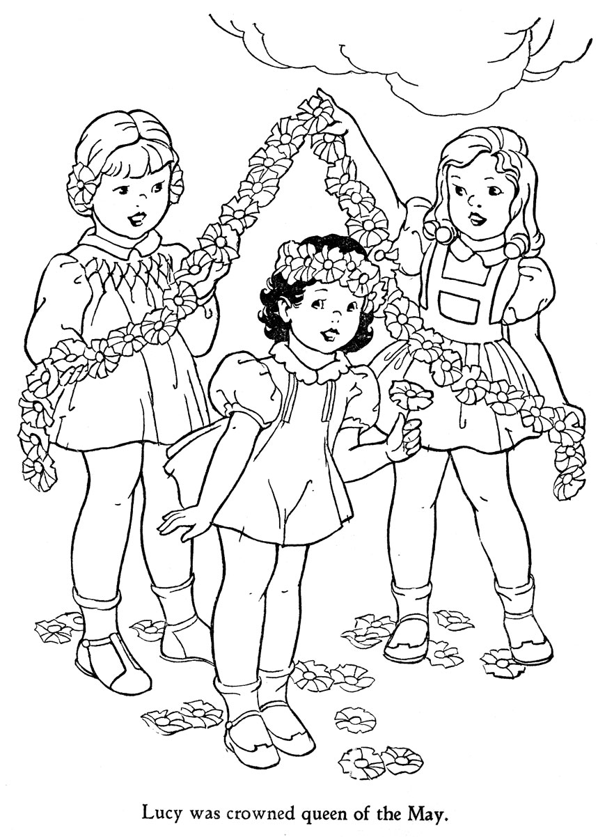 free may day coloring pages - photo#11