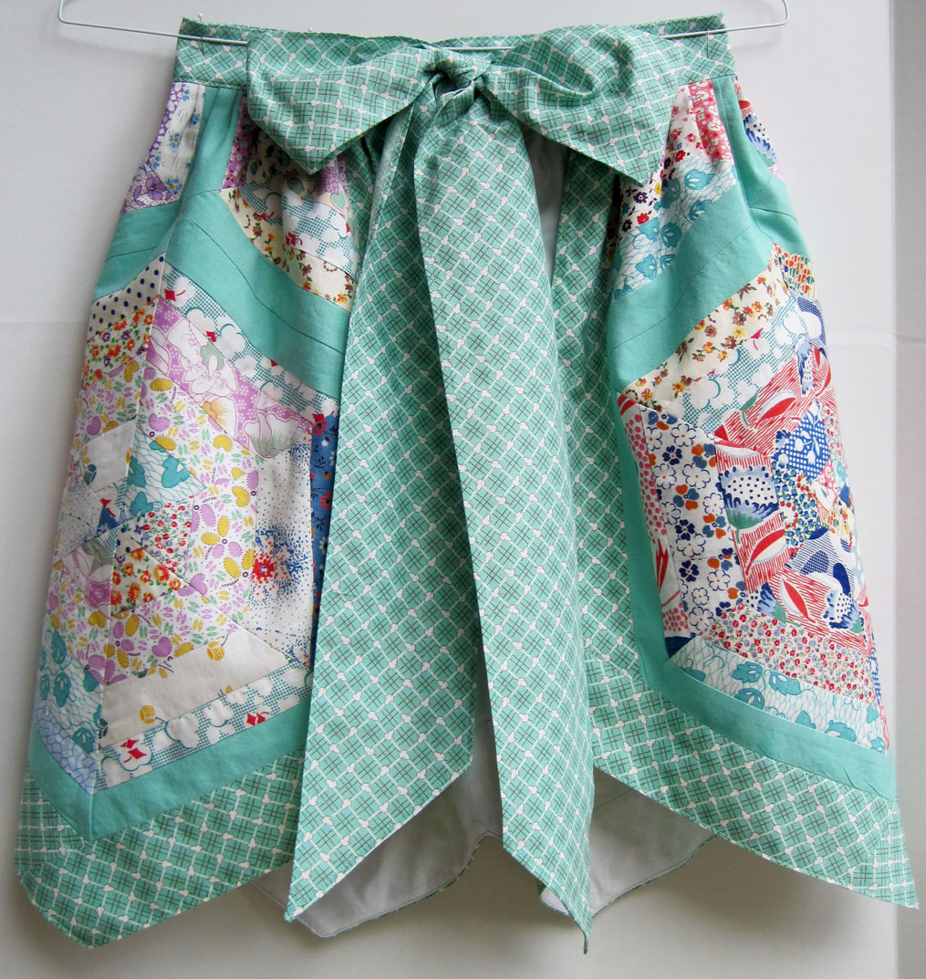 how to make a vintage apron