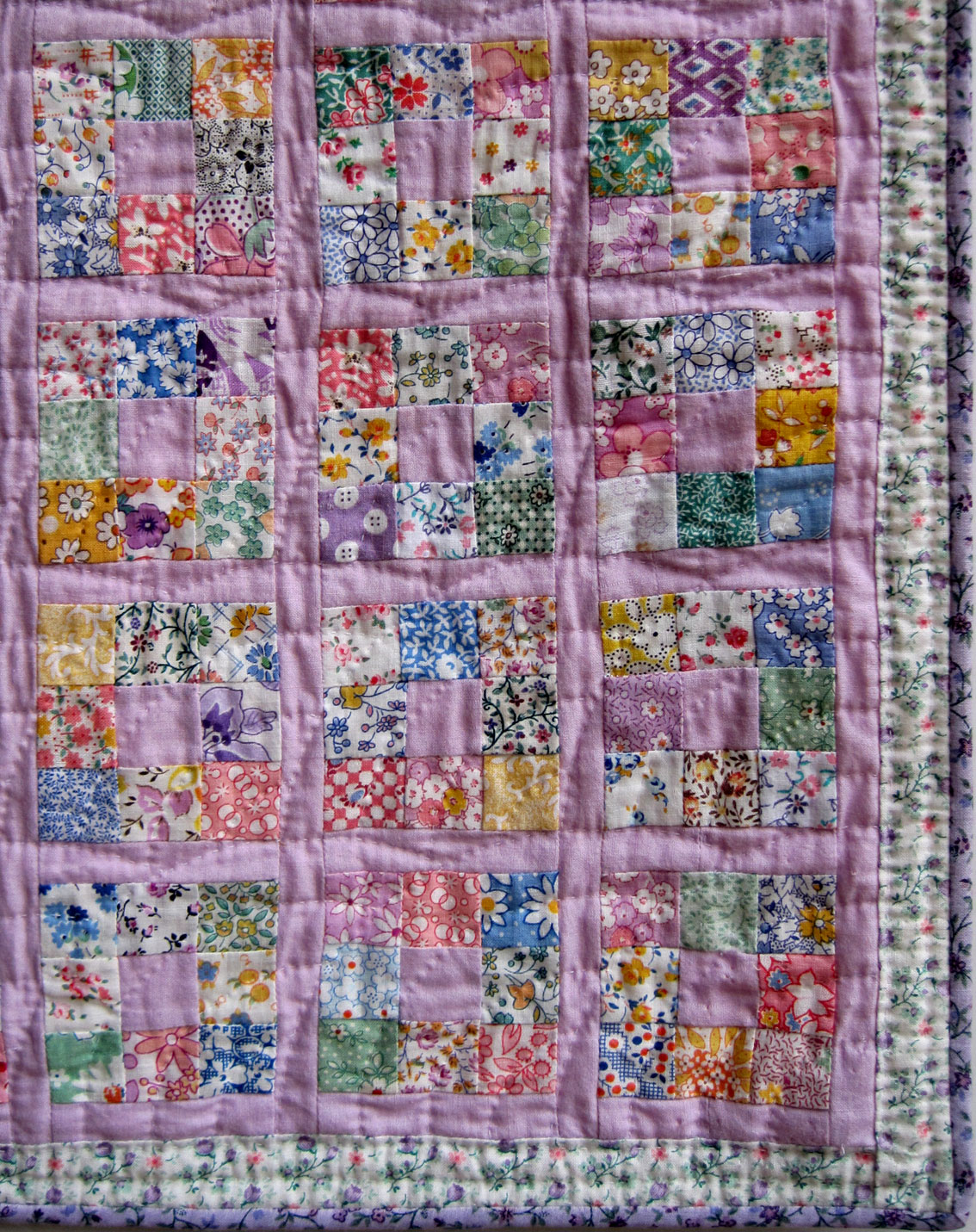 Nine-Patch Doll Quilt Q is for Quilter