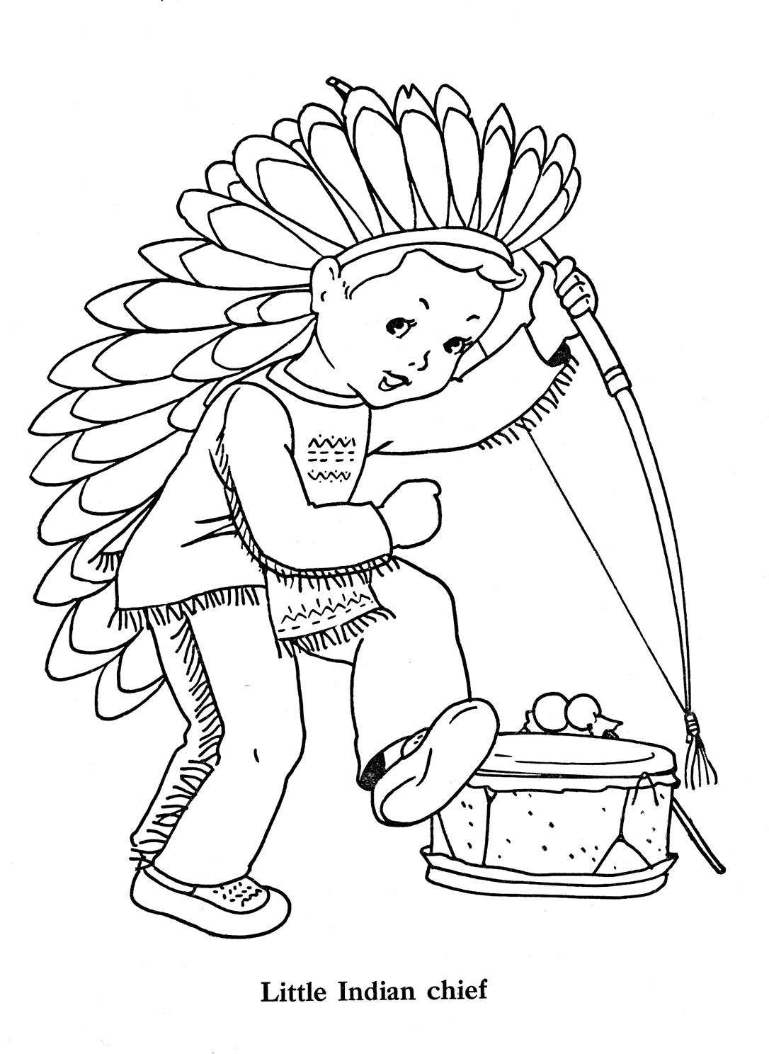 coloring pages indian chief - photo#21