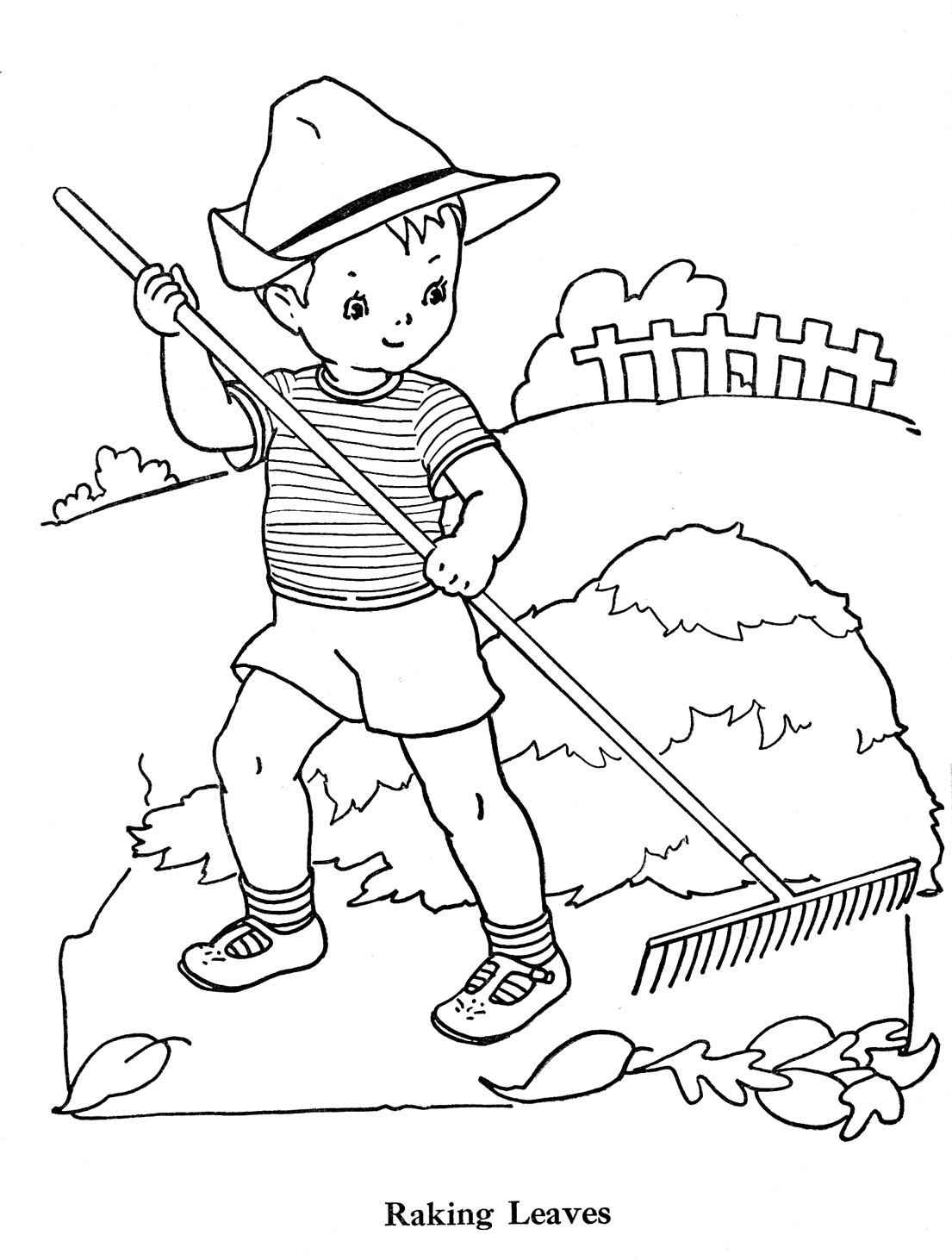 rakes coloring pages - photo#31