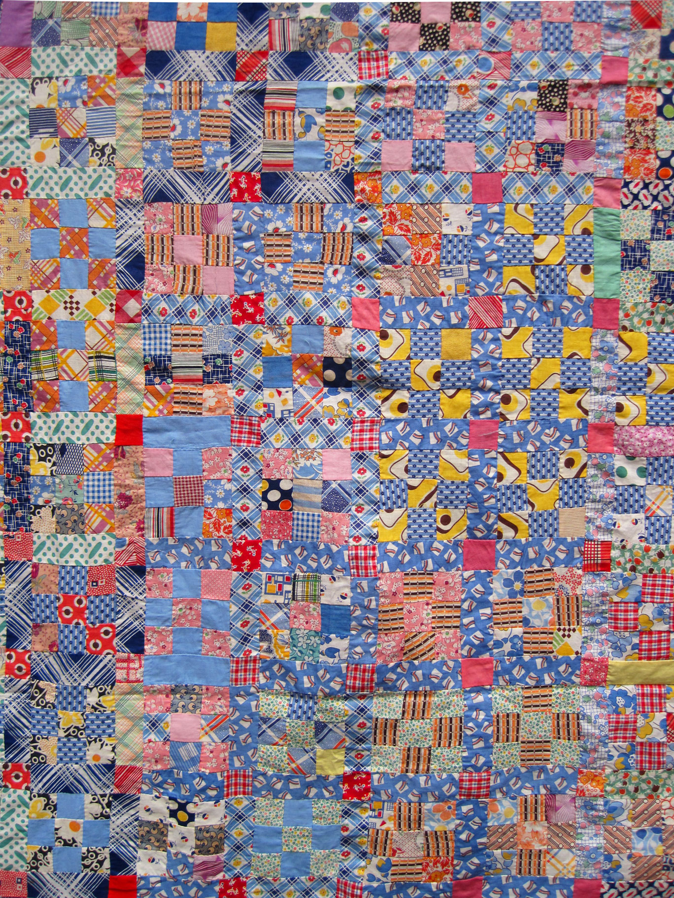 Vintage Nine Patch Quilt Top Q Is For Quilter