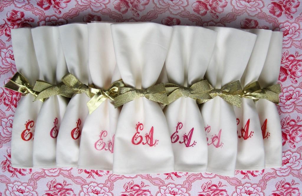 green wedding napkins