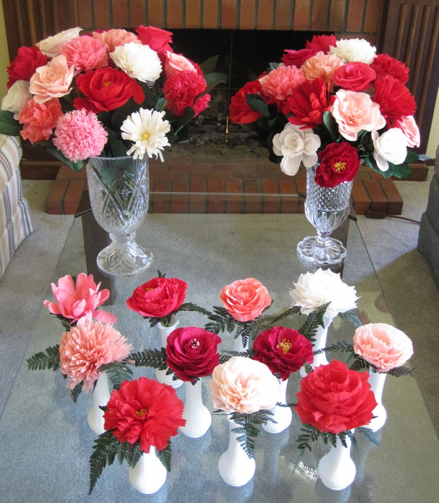 Paper Flowers For Weddings: Crepe Paper Wedding Flowers