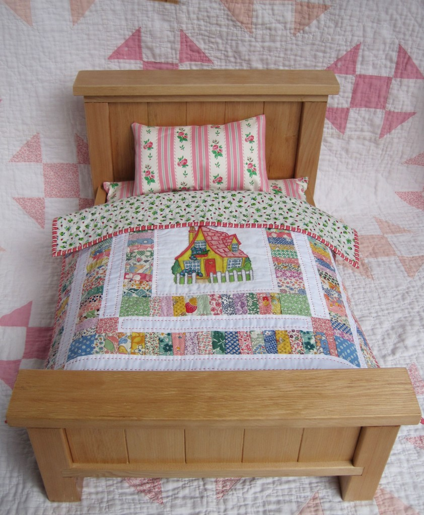 Woodwork free doll bed quilt patterns plans pdf download for Bed quilting designs