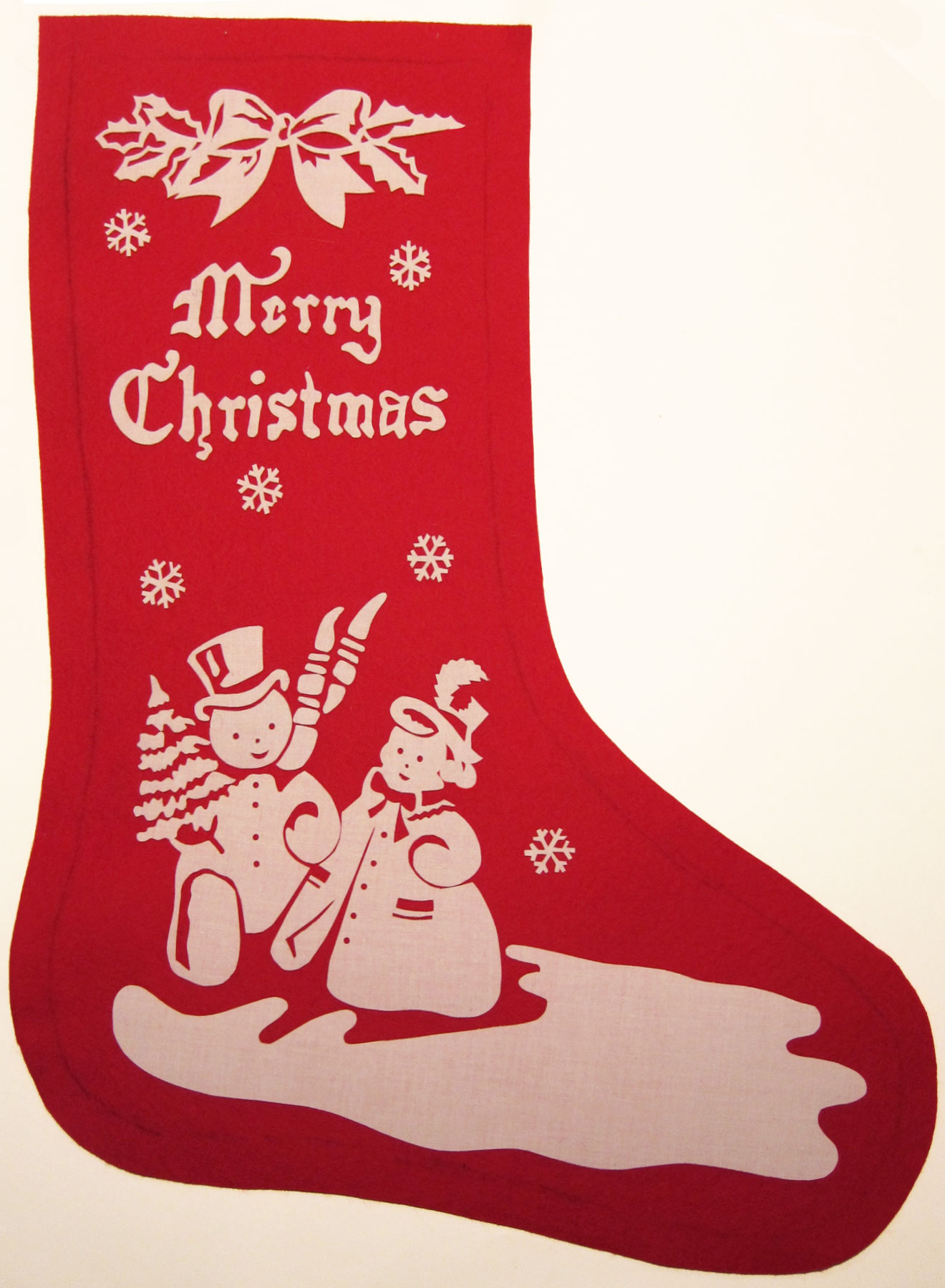 vintage inspired christmas stocking wip - Vintage Christmas Stockings