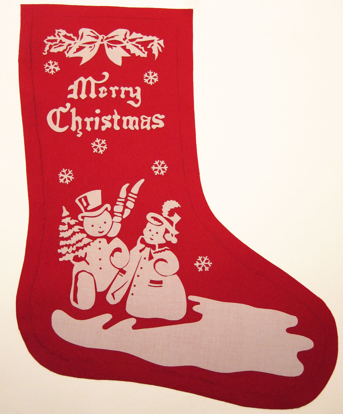 Stenciled-Christmas-Stocking-WIP