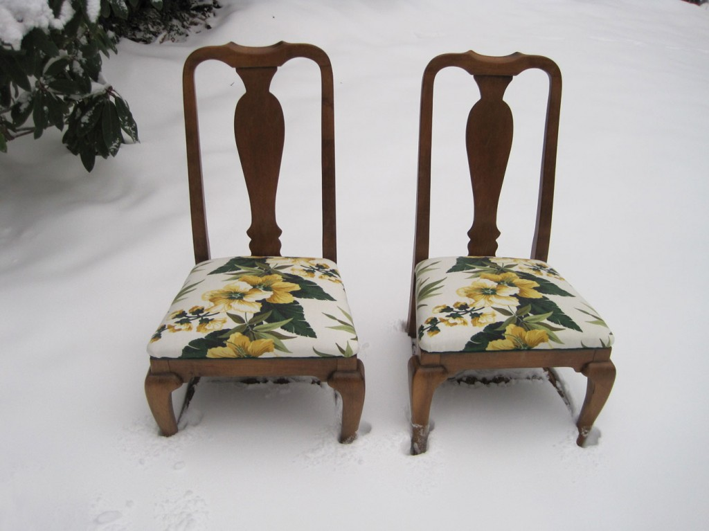 recovered dining room chairs – q is for quilter