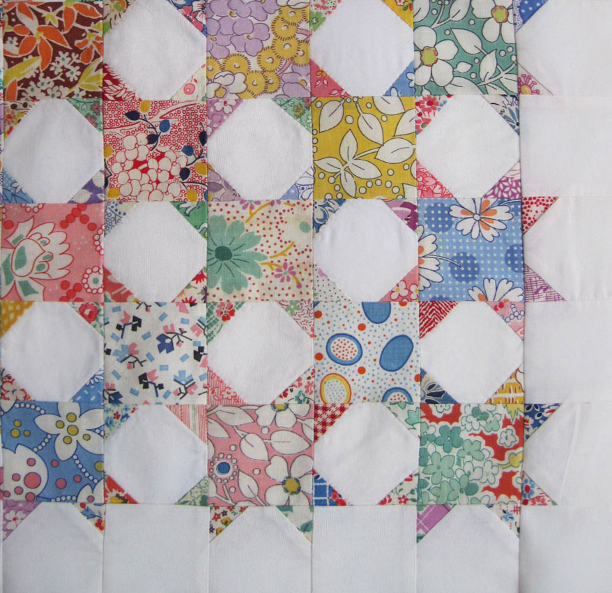 Quilt Patterns Snowball Block : Scrappy Snowball Doll Quilt Top Q is for Quilter