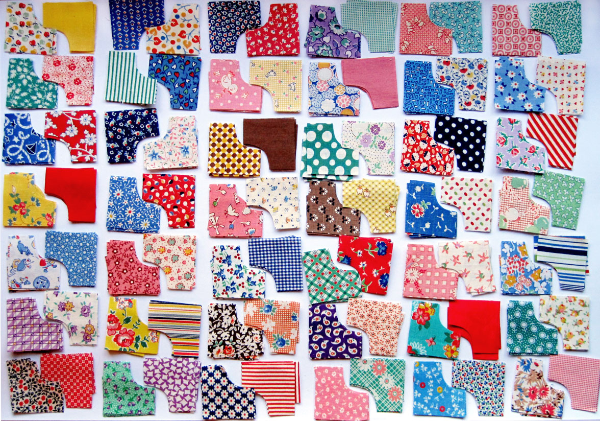 Vintage Doll Quilt Kit — Rob Peter to Pay Paul – Q is for Quilter : robbing peter to pay paul quilt - Adamdwight.com