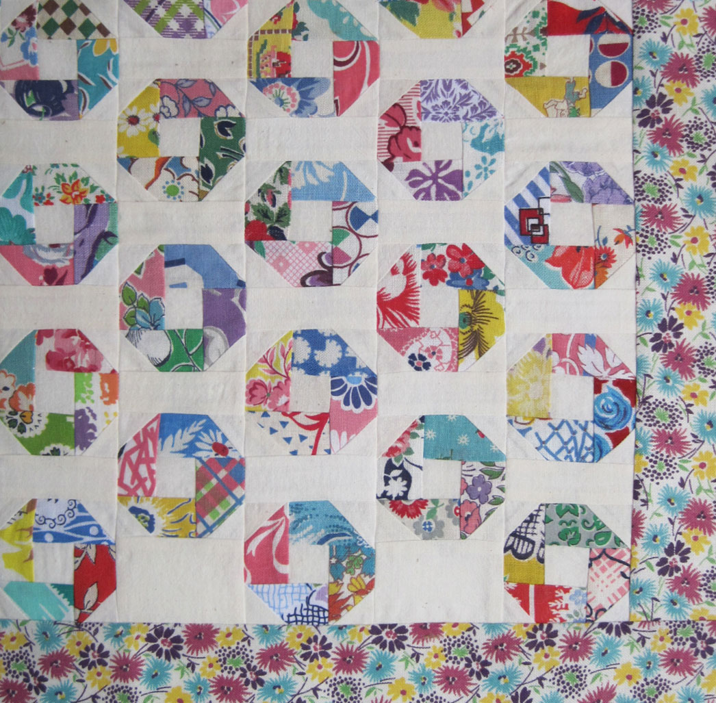 "Feedsack Charm Doll Quilt Top – Little ""O"" – Q is for Quilter : feedsack quilt - Adamdwight.com"