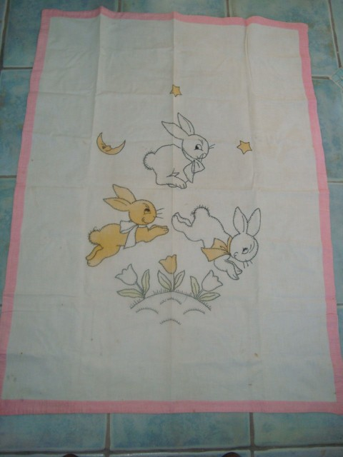 Embroidered Bunny Doll Quilt Top Q Is For Quilter