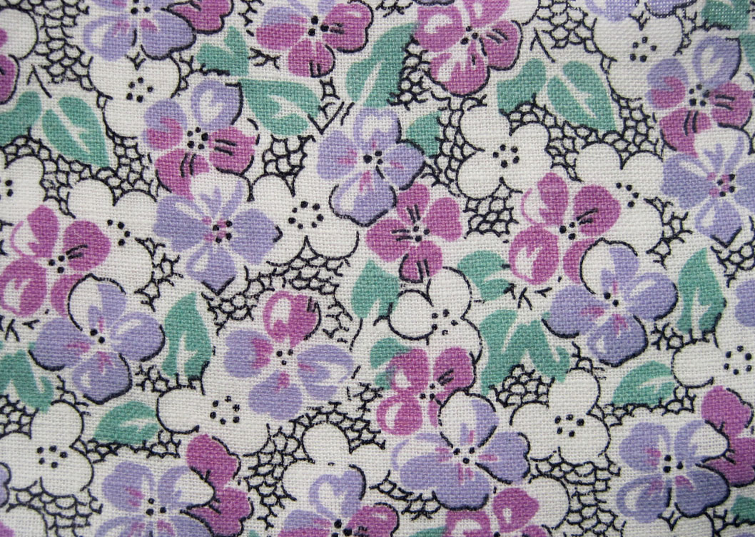 Vintage fabric gallery 1930s lavenders q is for quilter for Vintage fabric