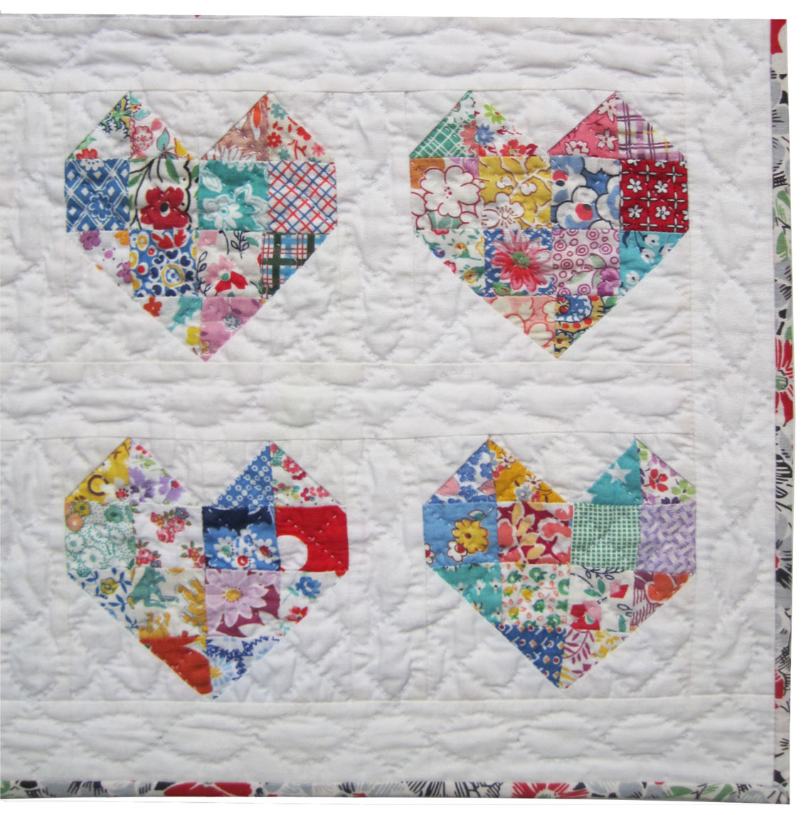 Hand Quilting Heart Patterns : Emily s Doll Heart Quilt Q is for Quilter