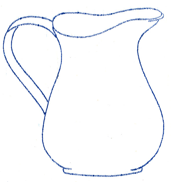 Walker s embroidery transfers pots and pans q is for for Pitcher coloring pages