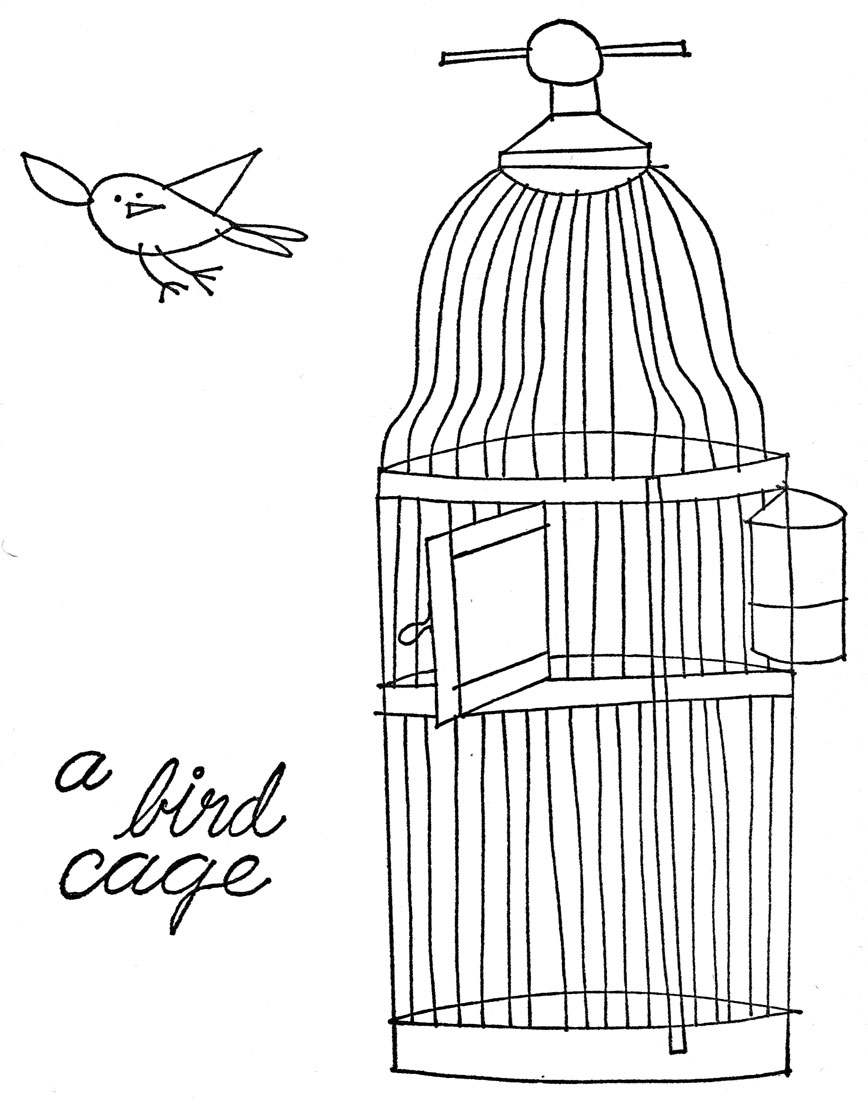bird cage coloring pages - photo#25