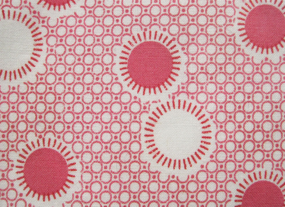 1930s Vintage Fabric Original Print Pink Butterfly F10-30s