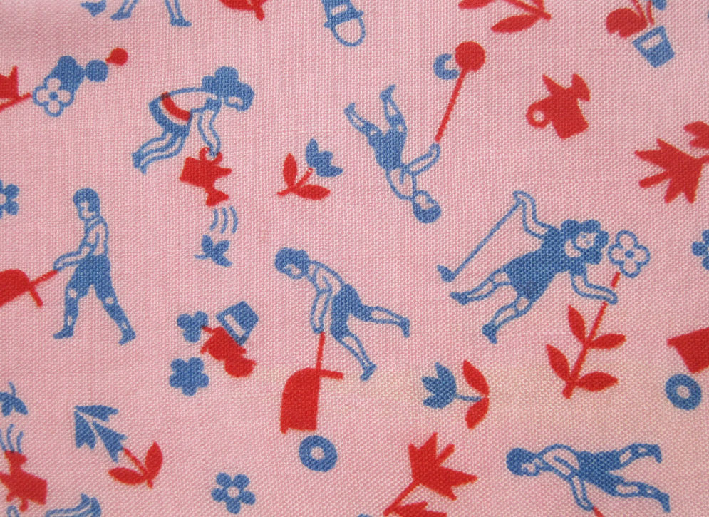 Vintage Fabric Gallery 1930s Pinks Q Is For Quilter