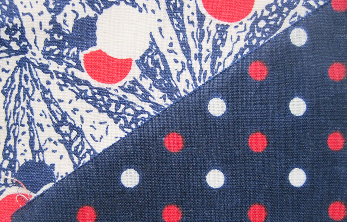 Vintage Fabric Gallery – Red, White and Blue – Q is for Quilter