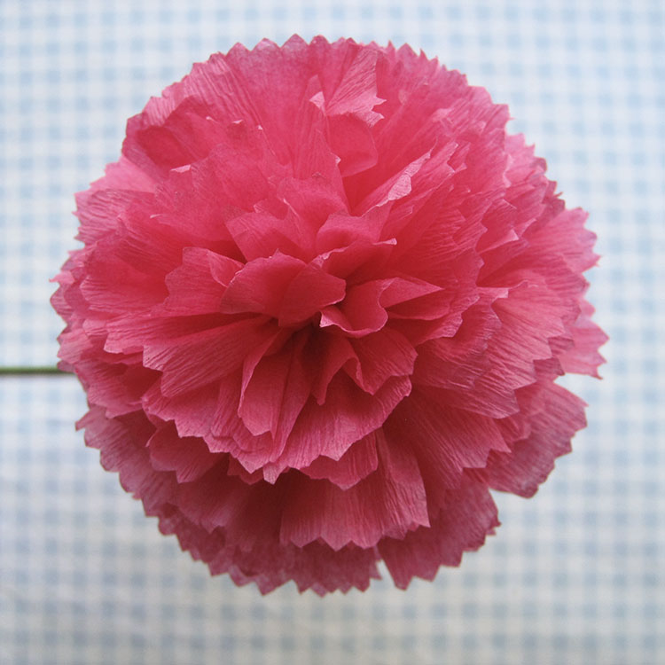 Crepe paper flowers using streamers and a ruffler foot tutorial dahlia mightylinksfo