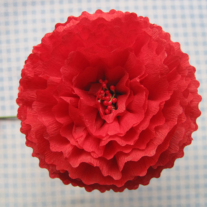 Crepe paper flowers using streamers and a ruffler foot tutorial cornflower mightylinksfo