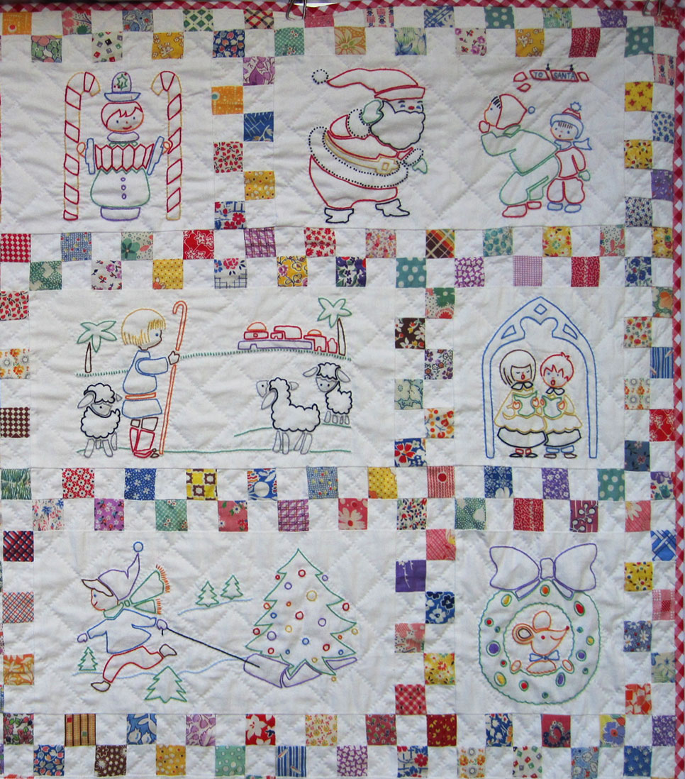 Santa s Follow-the-Colors Embroidered Quilt Finished Q is for Quilter